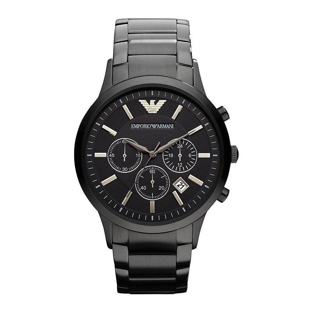 Emporio Armani AR2453 Mens Black Renato Watch - Mens Watches from Watch  Bazaar UK