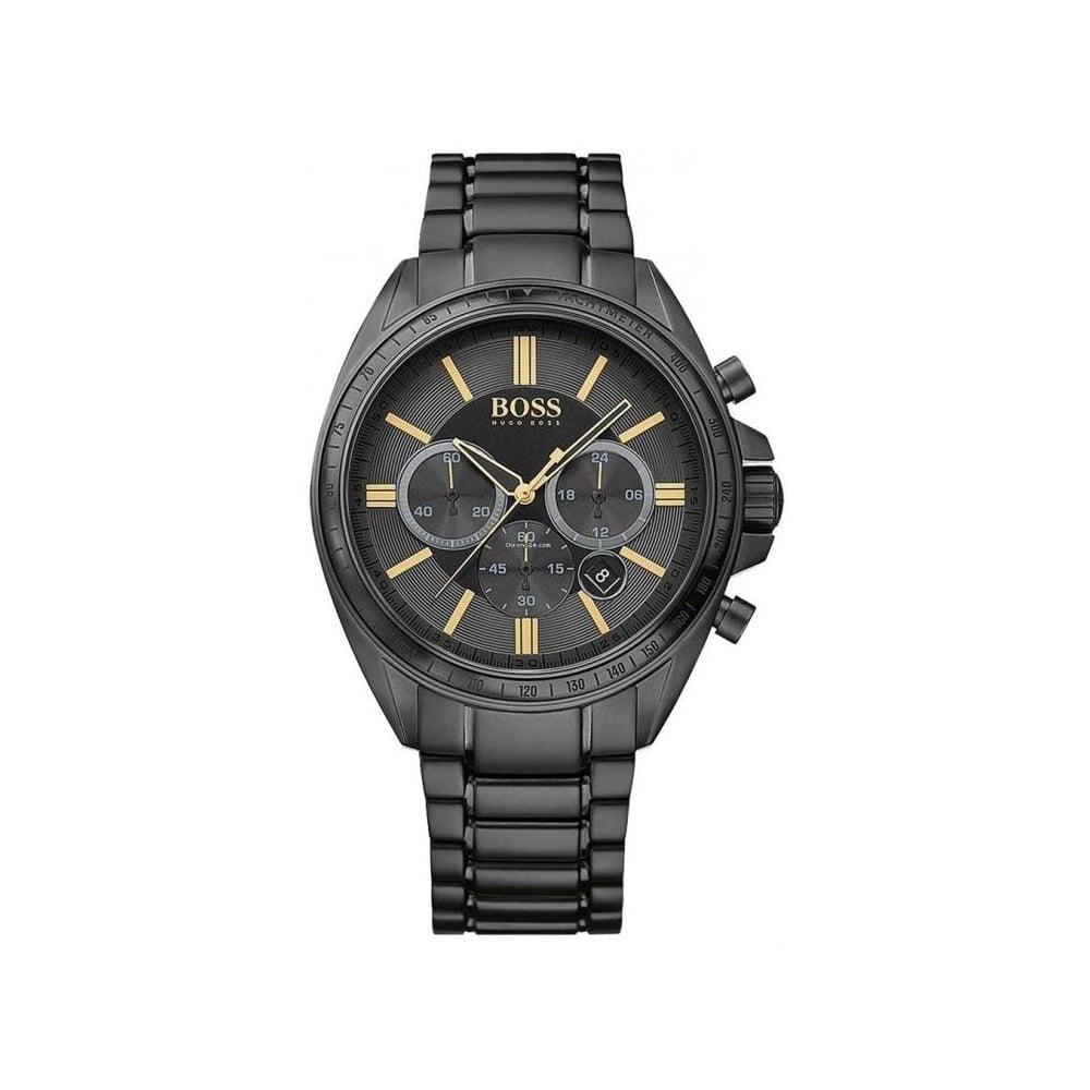 172f2845ae351 Hugo Boss HB 1513277 Mens Black Driver Chronograph Watch - Mens ...