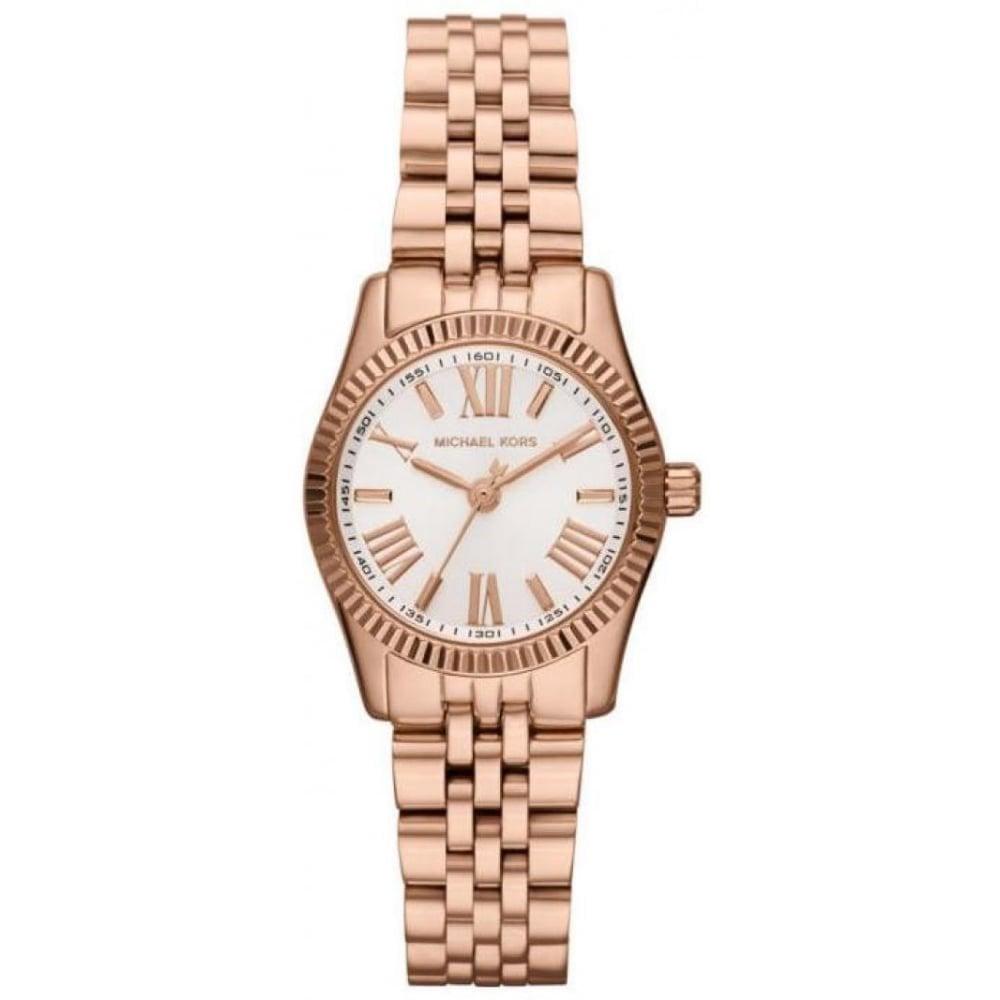 903508226e22 Michael Kors MK3230 Ladies Rose Gold Petite Lexington Watch - Womens ...