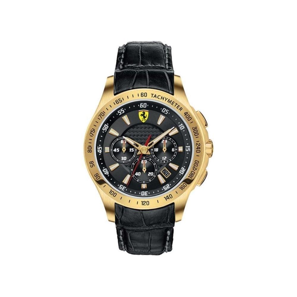 Ferrari Scuderia Ferrari Mens Gold Chronograph Watch 0830042 Mens Watches From Watch Bazaar Uk